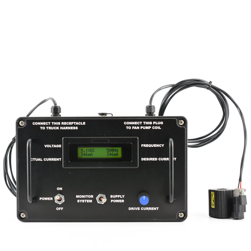 Portable coil tester, battery powered with adjustable frequency for a wide range of coils.