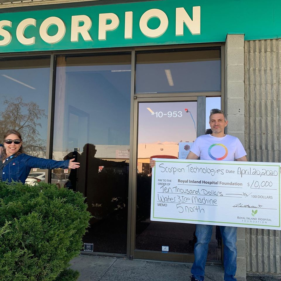 Scorpion Technologies donates ice and water machine to Royal Inland Hospital